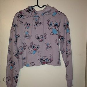 stitch cropped hoodie